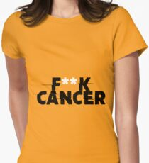 F**k Cancer Shirt Men & Women Women's Fitted T-Shirt