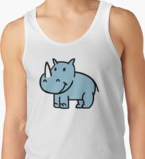 Blaues Nashorn Tank Top
