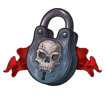 Locked Up Good - Skull Padlock by Rumblecade