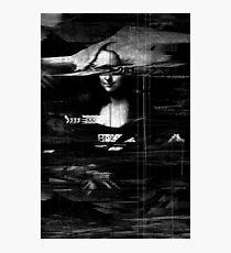 Mona Lisa Glitch Photographic Print
