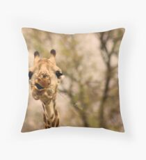 I SAID ...... DON'T TALK WITH FOOD IN YOUR MOUTH ! Throw Pillow