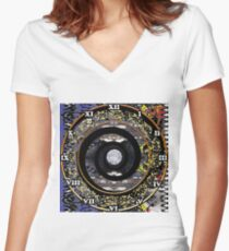 Science fiction,  speculative fiction, imaginative concept, futuristic science,  futuristic technology,  space travel, time travel, faster than light travel Women's Fitted V-Neck T-Shirt