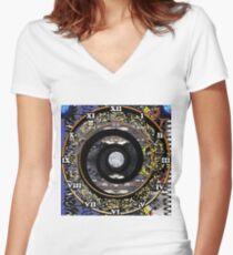 steampunk, cyberpunk, biopunk, nanopunk, technopunk  #CyberPunk #Steampunk #Technopunk Women's Fitted V-Neck T-Shirt