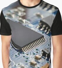 Electronic circuit board with processor Graphic T-Shirt