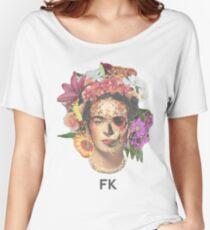 Frida Kahlo Fleurs T-shirts coupe relax