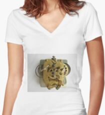 steampunk, cyberpunk, biopunk, nanopunk, technopunk Women's Fitted V-Neck T-Shirt