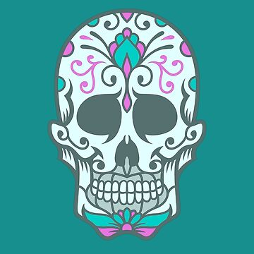 Colorful Sugar Skull Design by allovervintage