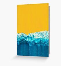 Yellow Tide Greeting Card