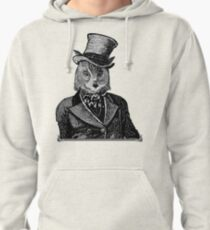 Owl Portrait   Black and White   No.1 of 2 from The Owl and the Pussycat Set Pullover Hoodie