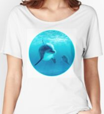 Dolphins Under Water Women's Relaxed Fit T-Shirt