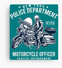 New York Police Department -  Motorcycle Officer Canvas Print