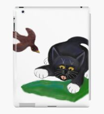 Bird Swoops after Tuxedo Kitten iPad Case/Skin