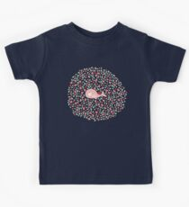 Pink Pregnant Mommy Whale With Twins Baby  Kids Tee
