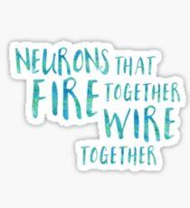 Neurons Fire Together Sticker Sticker
