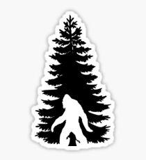 Bigfoot verstecken Sticker