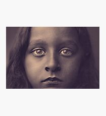 Refugee Girl Photographic Print