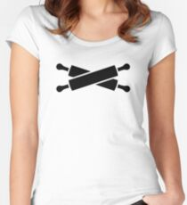 Crossed rolling pins Women's Fitted Scoop T-Shirt