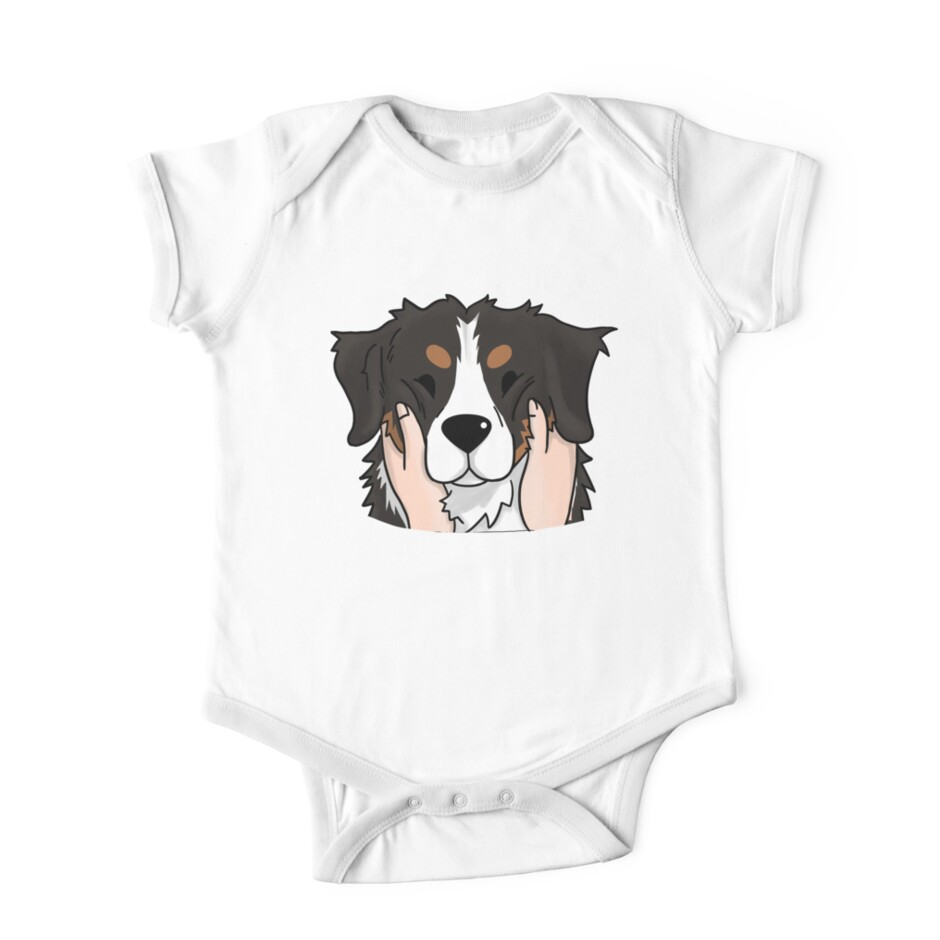 Top Bernese Mountain Dog Chubby Adorable Dog - ra,shortsleeve_one_piece,x1250,FFFFFF:97ab1c12de,front-pad,940x940,ffffff  Graphic_247171  .jpg