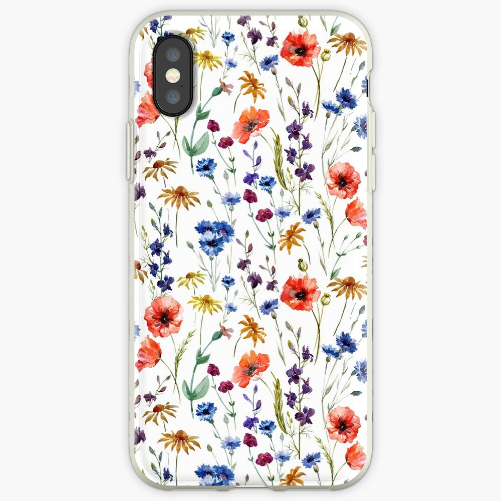 Wildblumen Muster iPhone-Hüllen & Cover