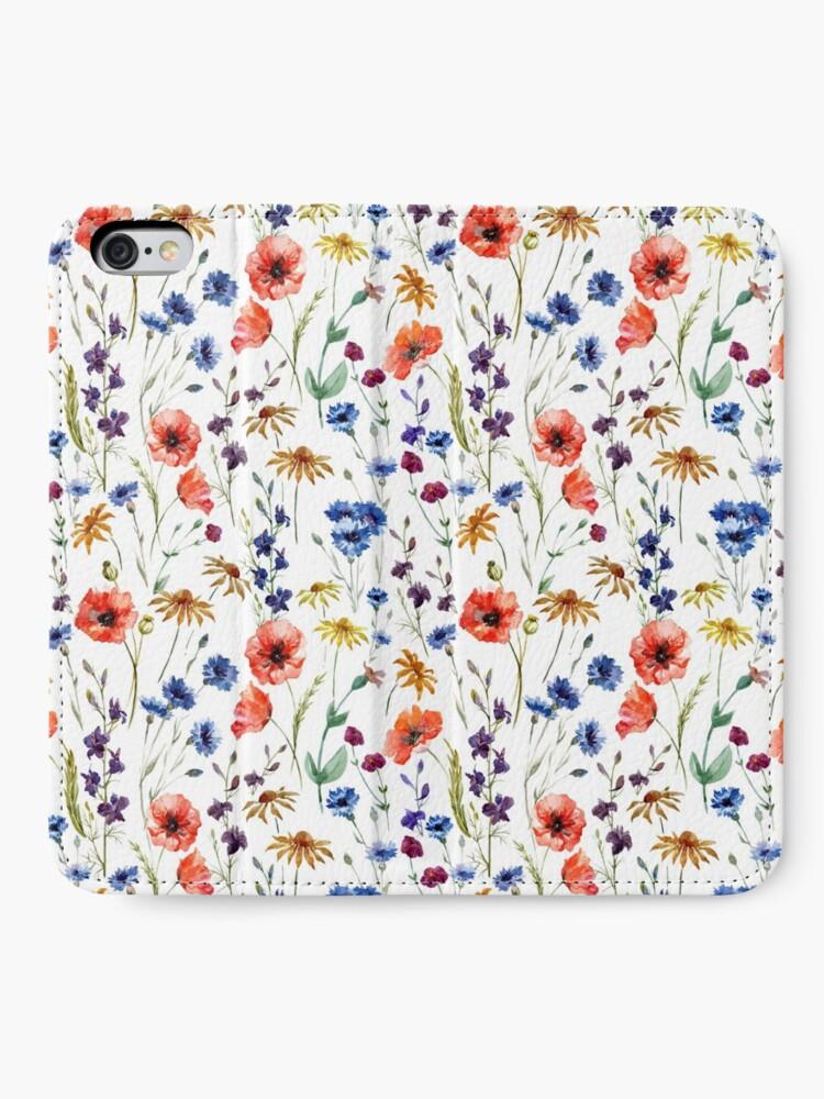Alternate view of Wildflowers Pattern iPhone Wallet