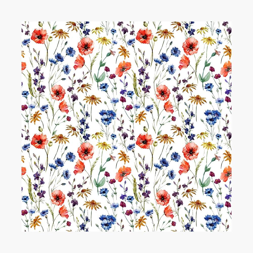 Wildflowers Pattern Photographic Print