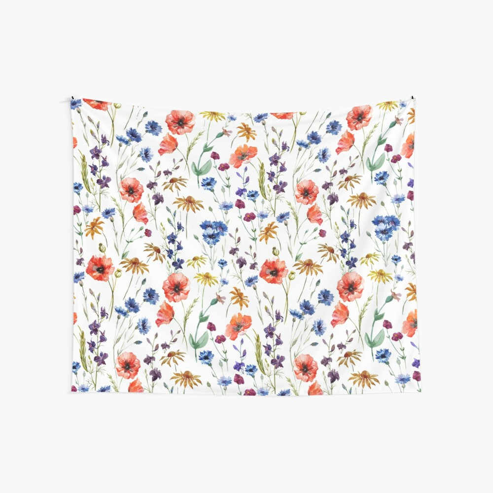 Wildflowers Pattern Wall Tapestry