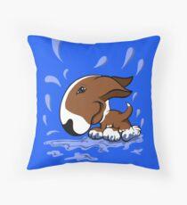 Bull Terrier Splash  Throw Pillow