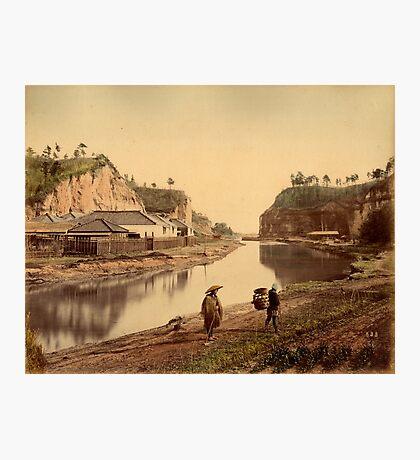 Horiwarikawa canal, Yokohama, Japan, 1880s Photographic Print