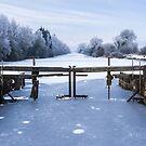 Frozen Ulverston Canal 2010 by Stephen Miller