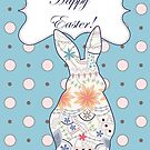 Happy Easter with vintage bunny by Marina Sterina