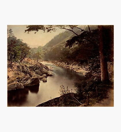View of Kakehashi, Kosogawa river on the Nakasendo, Japan Photographic Print