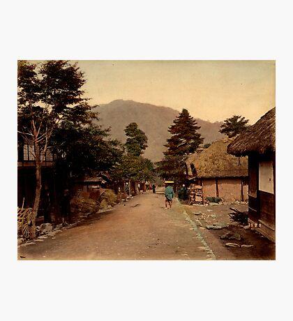 Nagakubo village at Nakasendo, Japan Photographic Print