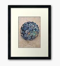 Something Blue: ButtonBelleBridal Bouquet Framed Print