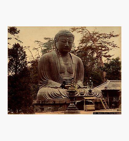 Giant bronze Buddha, daibutsu, Kamakura, Japan Photographic Print