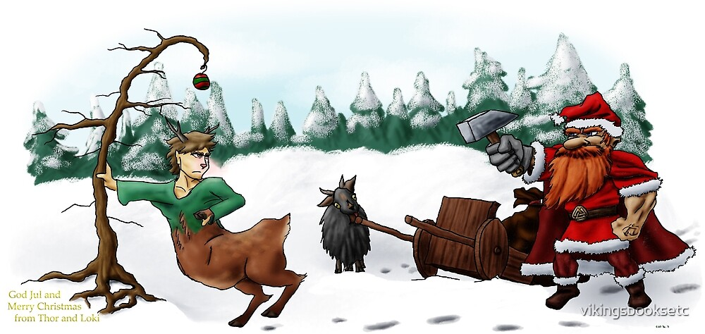 God Jul and Merry Christmas from Thor and Loki by vikingsbooksetc