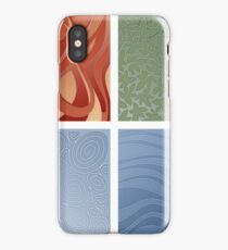 4 elements symbol - fire water air earth iPhone Case