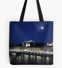 Salzburg Nightscape Tote Bag