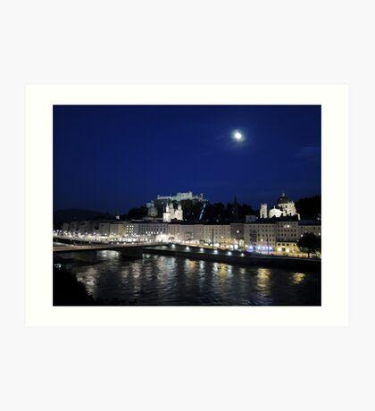 Salzburg Nightscape Art Print