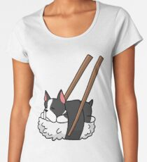 Funny Sushi Boston Terrier Women's Premium T-Shirt
