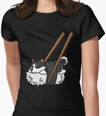 Funny Sushi Siberian Husky Women's Fitted T-Shirt