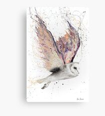 Heart Winged Owl Canvas Print