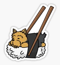 Funny Sushi Yorkshire Terrier Sticker