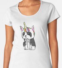Funny Unicorn Boston Terrier Women's Premium T-Shirt