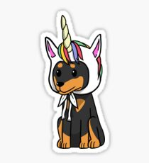 Funny Unicorn Miniature Pinscher Sticker