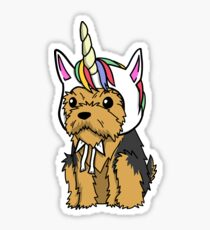 Funny Unicorn Yorkshire Terrier Sticker