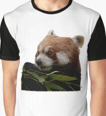 Roter Panda - Bambus Frühstück Grafik T-Shirt