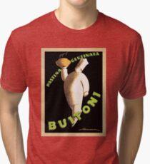 Vintage Buitoni Pasta Poster Tri-blend T-Shirt