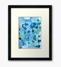 Pixel Blue Framed Print