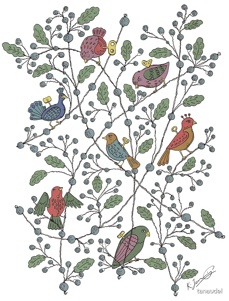 Clockwork birds - colour by tanaudel