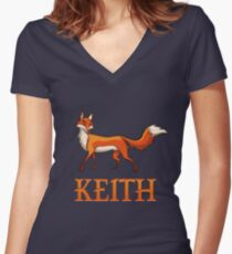 Keith Fox Women's Fitted V-Neck T-Shirt